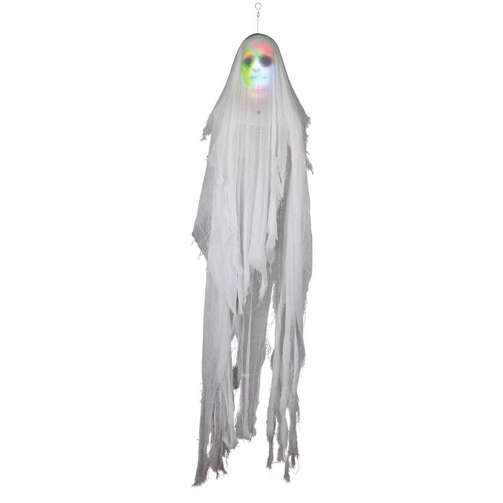 "Image of ""10"""" Halloween Lightshow Hanging Phantom Ghost"""