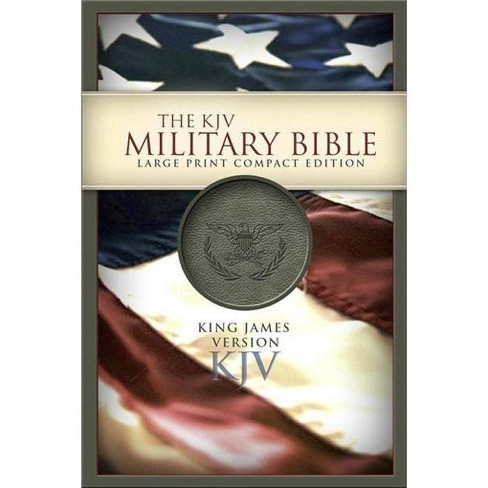 Military Bible-KJV-Large Print Compact - by  Holman Bible Staff (Leather_bound) - image 1 of 1