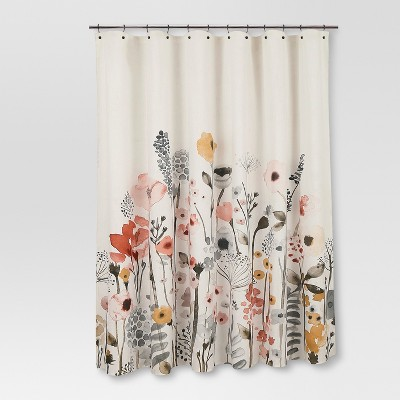 Shower Curtain Floral Wave