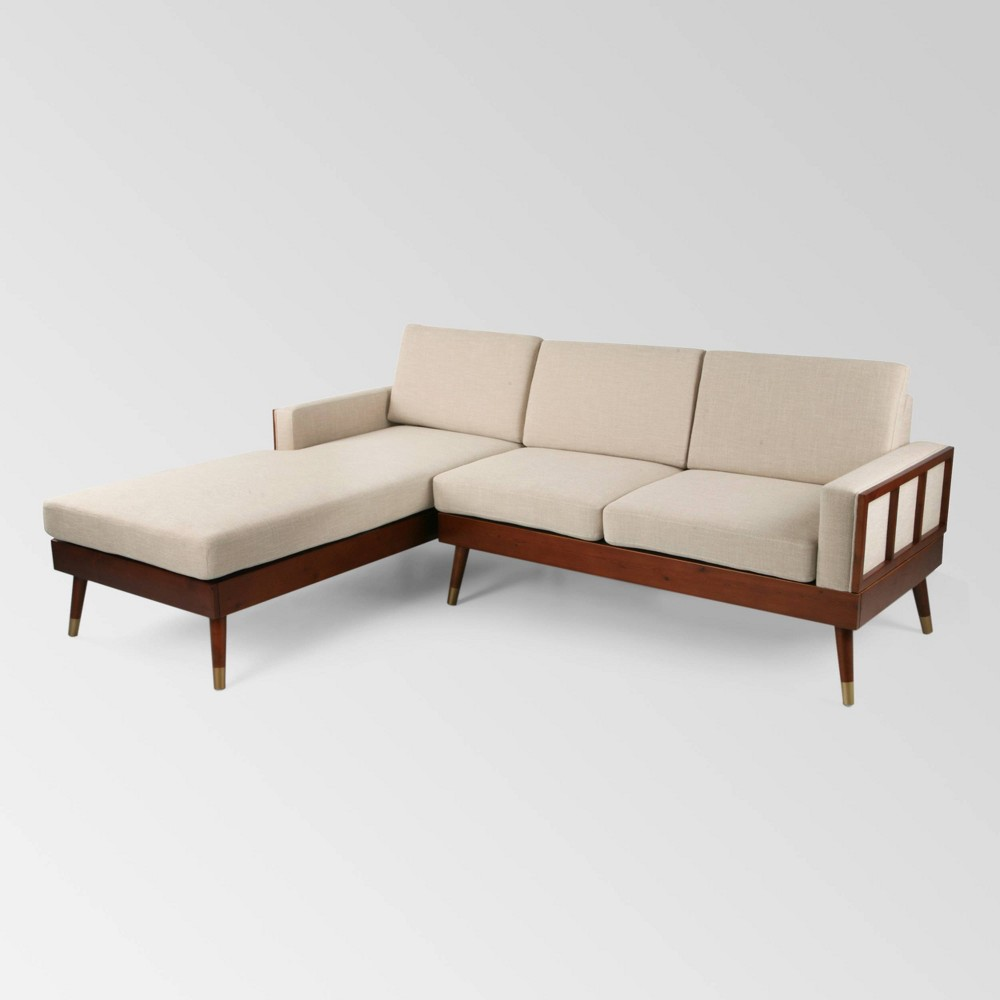 Image of 2pc Arkwright Chaise Sectional Set Beige - Christopher Knight Home