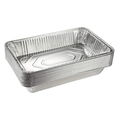 Juvale 15-Pack Disposable Aluminum Foil Pans Full-Size Steam Table Roasting Tin Pans, 20.5 x 3.3 x 13 in