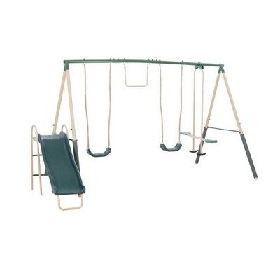 XDP Recreation Childrens Outdoor Metal Play Swing Set Swing Set & Anchor Kit