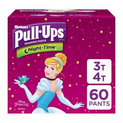 Huggies Pull-Ups Girls' NightTime Training Pants Giga Pack - Size 3T-4T (60ct)