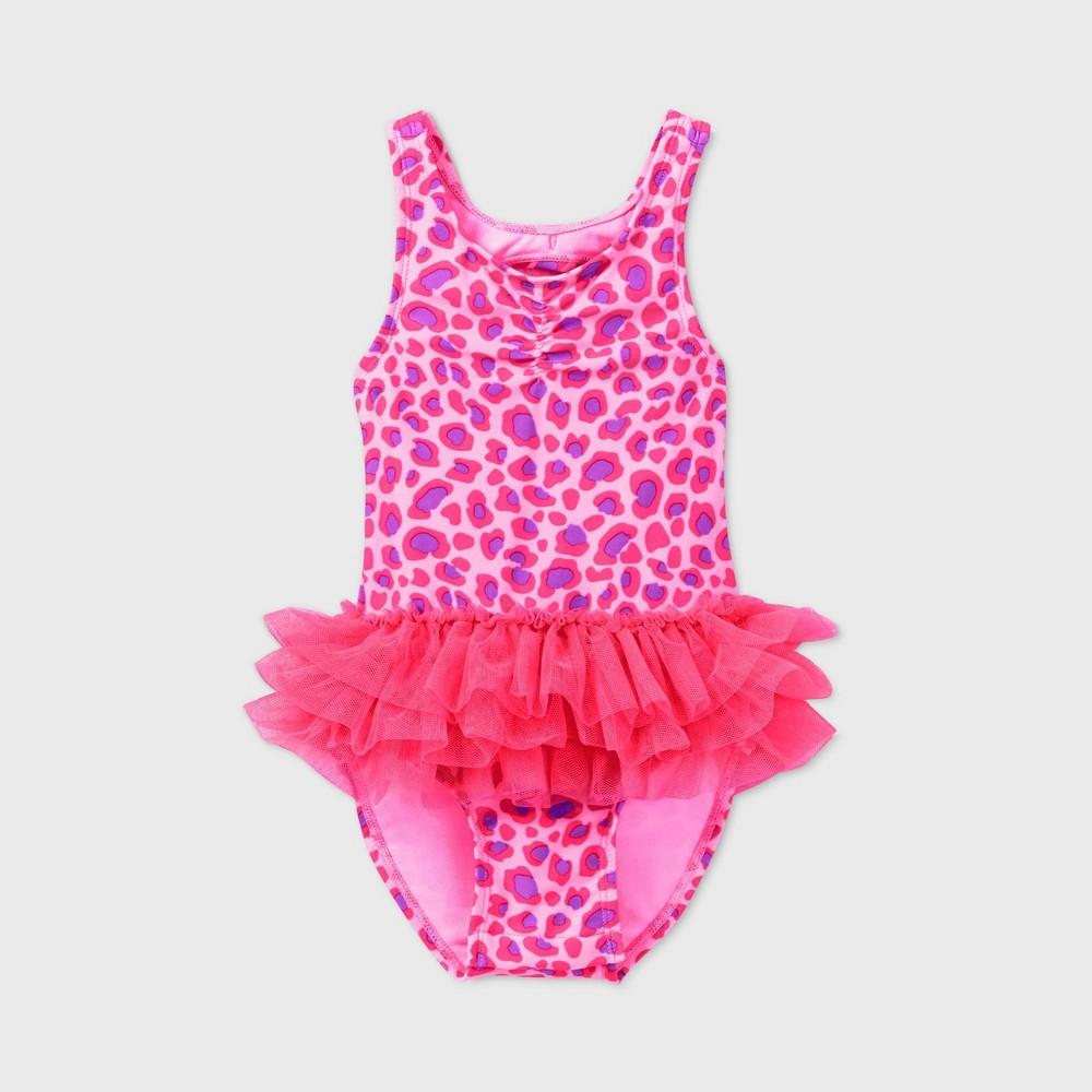 Discounts Toddler Girls' Leopard Print Tutu One Piece Swimsuit - Cat & Jack™