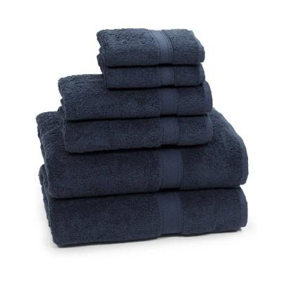 6pc Sinemis Turkish Bath Towel Set Navy - Linum Home Textiles