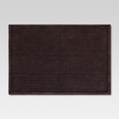 30 x21  Performance Solid Bath Mat Brown - Threshold™