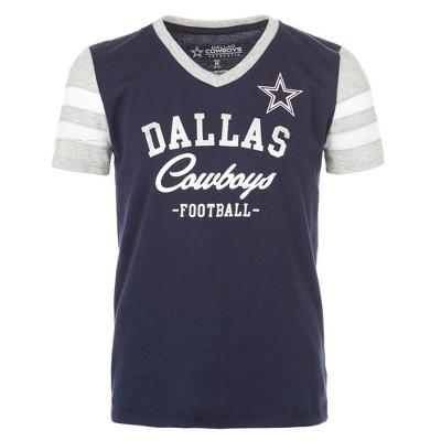 more photos 057c2 4cbc4 NFL Dallas Cowboys Girls' Demi -Gray V-Neck T-Shirt