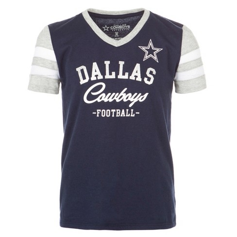 dbfa4fe76 Dallas Cowboys Girls  Demi -Gray V-Neck T-Shirt M   Target