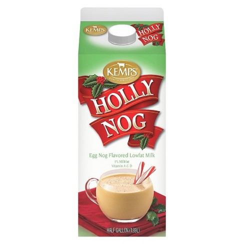 Kemps Holly Nog Flavored 1% Milk - 0.5gal - image 1 of 1