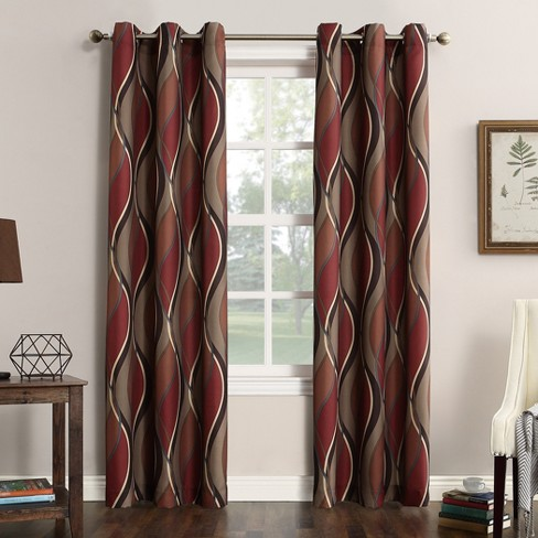 No. 918 Intersect Casual Grommet Curtain Panel - image 1 of 4