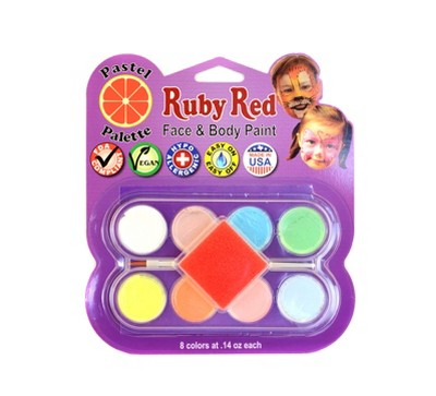 Face & Body Paint Kit Artist Palette Pastel Colors 8ct - Ruby Red