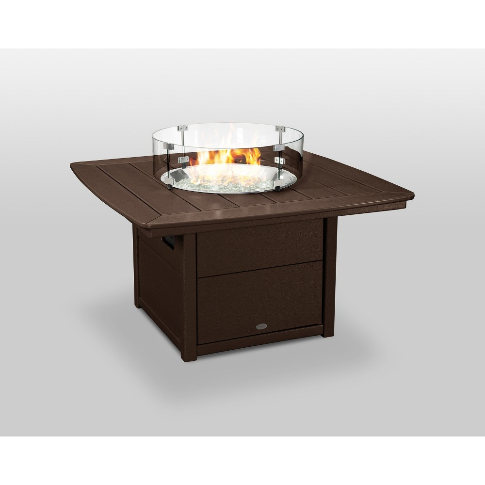 "Image of ""POLYWOOD 42"""" Nautical Fire Pit Table - Mahogany, Brown"""