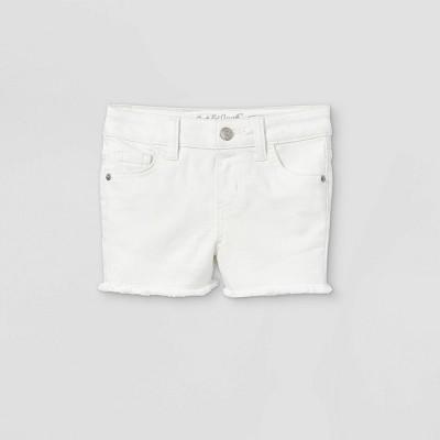 Toddler Girls' Cut-Off Jean Shorts - Cat & Jack™ White
