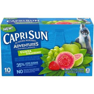 Capri Sun Adventures Guava Strawberry - 10pk/6 fl oz Pouches