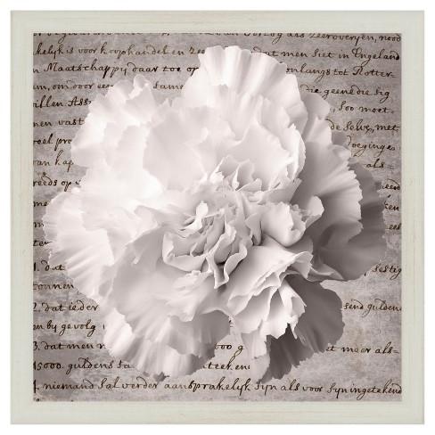 Letter Flowers Ii 18X18 Wall Art - image 1 of 1