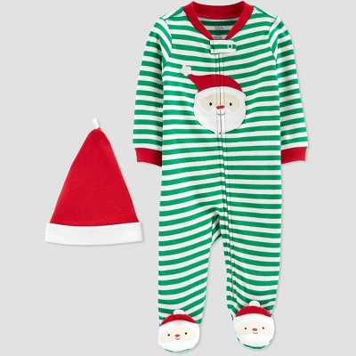 Baby Boys' Stripe Santa Christmas Sleep N' Play - Just One You® made by carter's Green 9M