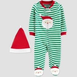 Baby Boys' Stripe Santa Christmas Sleep N' Play - Just One You® made by carter's Green