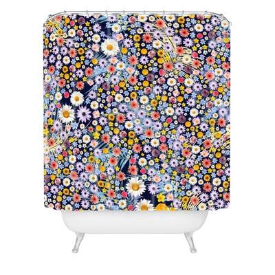 Iveta Abolina Flower Power Shower Curtain - Deny Designs