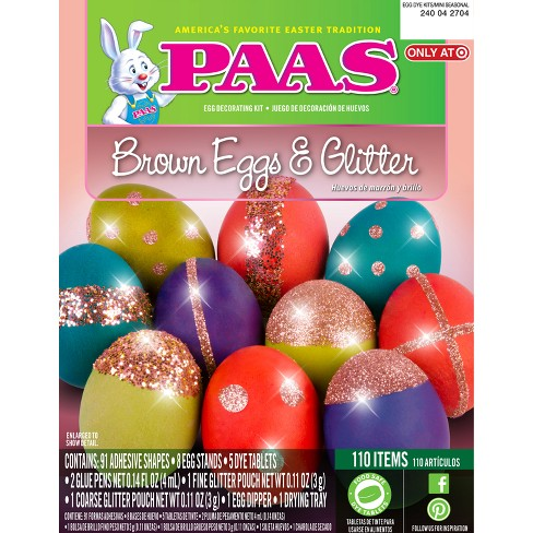 Easter PAAS Brown Eggs and Glitter Egg Decorating Kit - image 1 of 1