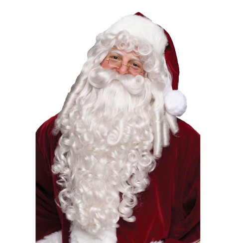 Santa Super Deluxe Costume Wig And Beard - image 1 of 1