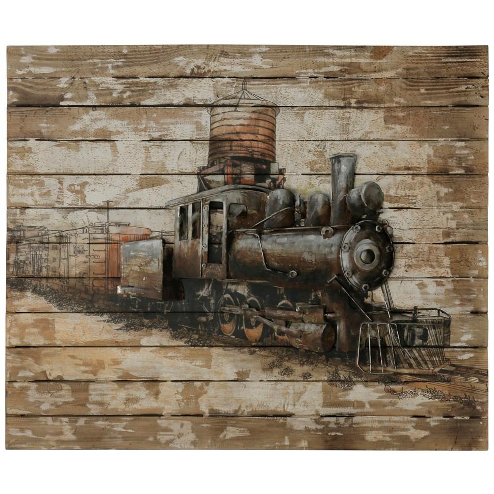 "Image of ""47.2"""" Train Engine Print Decorative Wall Art - StyleCraft"""