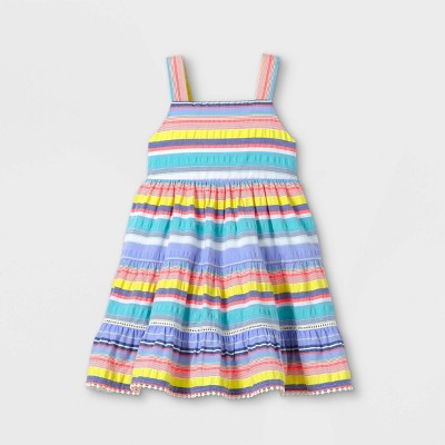 Toddler Girls' Tiered Striped Tank Dress - Cat & Jack™