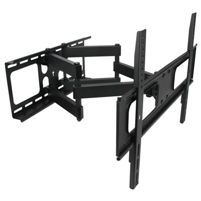 MegaMounts Full Motion Double Articulating Wall Mount for 32-70in Screens