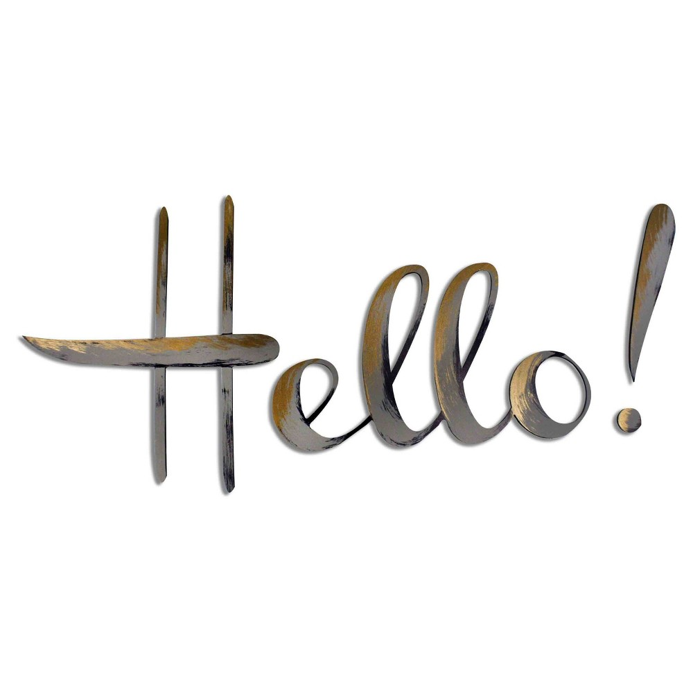 'Hello' Hand Painted Dimensional Wall Words, Multi-Colored
