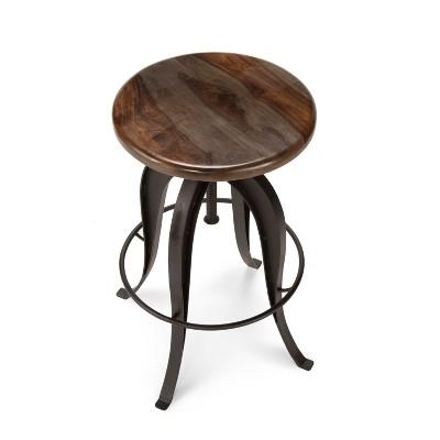 Sparrow Round Crank Pub Table Sheesham Wood   Steve Silver