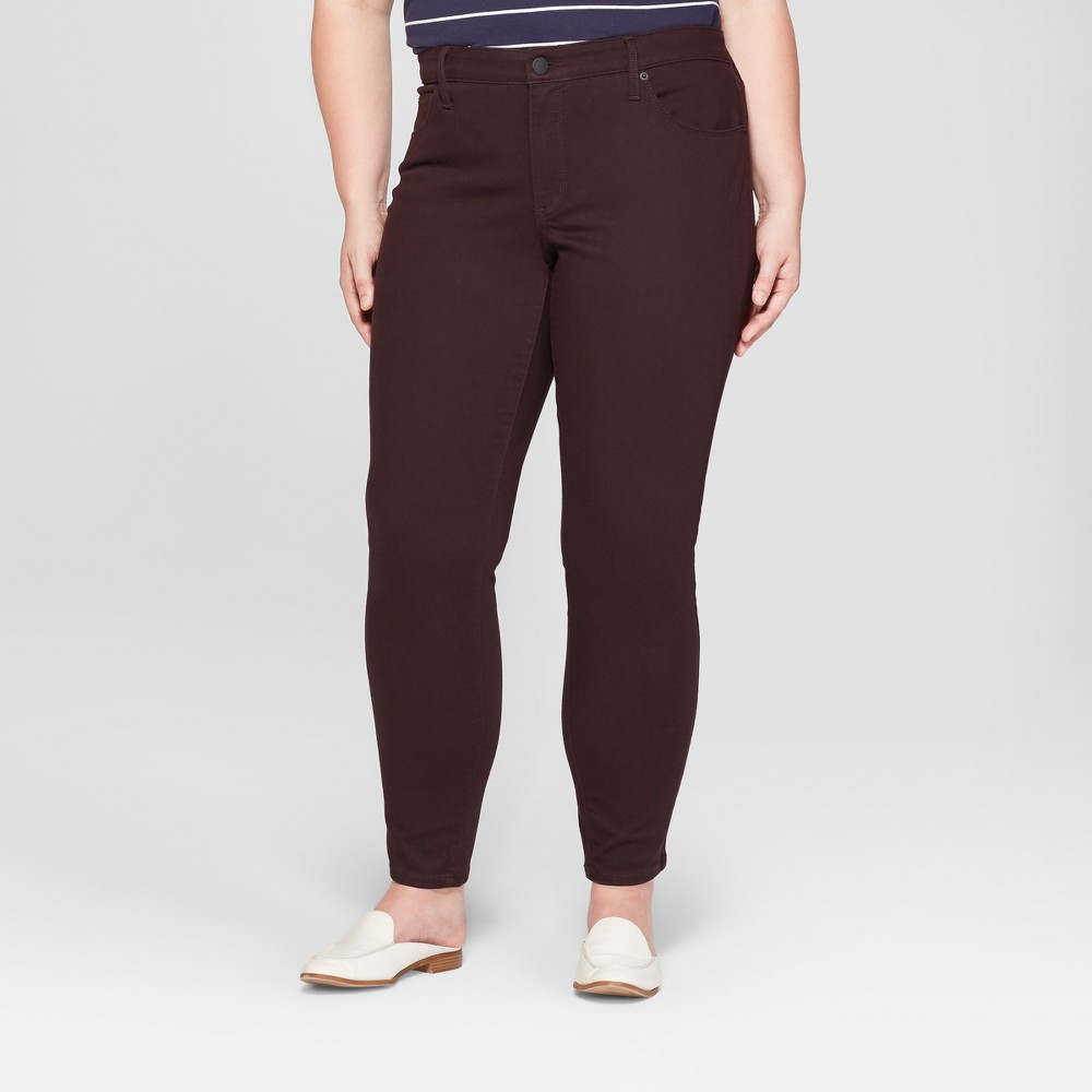 Women's Plus Size Skinny Jeans - Universal Thread Brown 18W