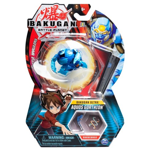 """Bakugan Ultra Aquos Gorthion 3"""" Collectible Action Figure and Trading Card - image 1 of 4"""