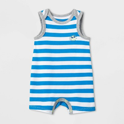 Baby Boys' Beach Bum Romper - Cat & Jack™ Blue 0-3M