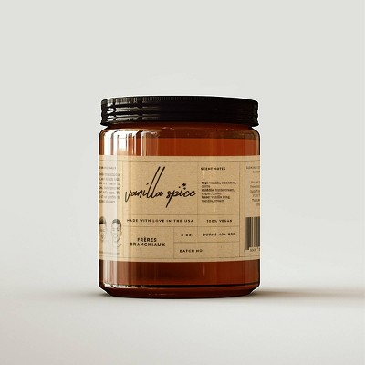 Vanilla Spice Candle - Freres Branchiaux
