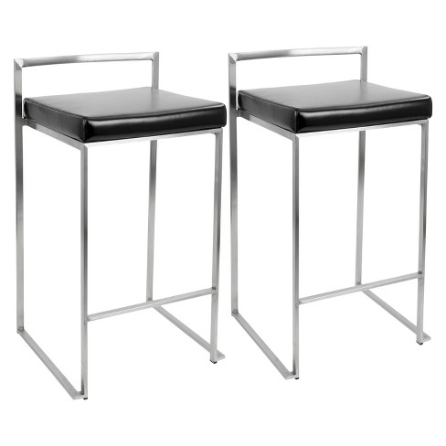 "Fuji 27"" Counter Stool Steel - LumiSource - image 1 of 3"
