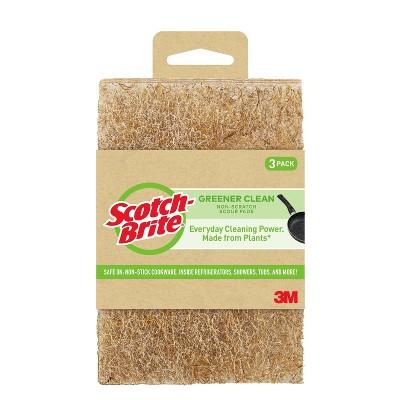 Scotch-Brite  Greener Clean Non-Scratch Scour Pads - 3pk