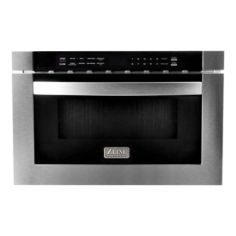 Zline 24 Inch 1 Cubic Feet 1000 Watt Digital Touchscreen Microwave Drawer With 11 Power Levels For Kitchen Island Pantry Cabinet Stainless Steel Target