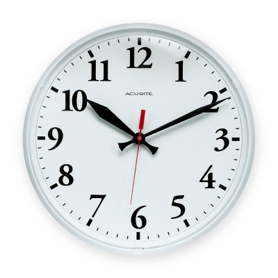 "AcuRite 12.5"" Outdoor Wall Clock White"