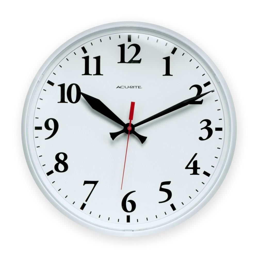 Image of 12.5 Outdoor Clock White - AcuRite