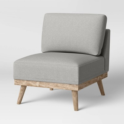 Wood Base Slipper Chair Light Gray - Threshold™
