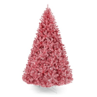 Best Choice Products 7.5ft Artificial Tinsel Christmas Tree Festive Holiday Decoration w/ 1,749 Tips, Stand - Pink