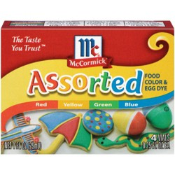 McCormick 4ct Assorted Food Color and Egg Dye - 1oz
