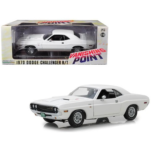 """1970 Dodge Challenger R/T White """"Vanishing Point"""" (1971) Movie 1/18 Diecast Model Car by Greenlight - image 1 of 4"""