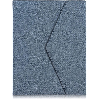 Business Portfolio, Executive Padfolio Folder, Features Pockets Hold Paper Cards & Bill, Shades of Blue
