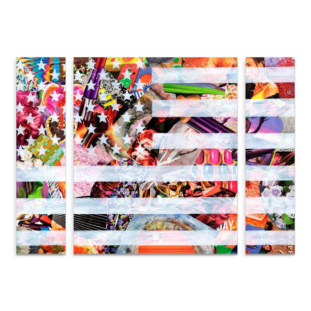 "Image of ""27""""x33.5"""" Artpoptart 'Murican Flag' Multi Panel Decorative Wall Art set - Trademark Fine Art"""