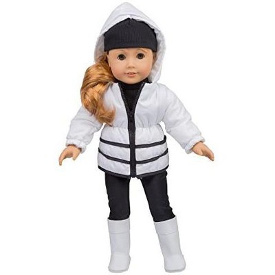 Dress Along Dolly Winter Snow Outfit for American Girl Doll, 5 Pieces