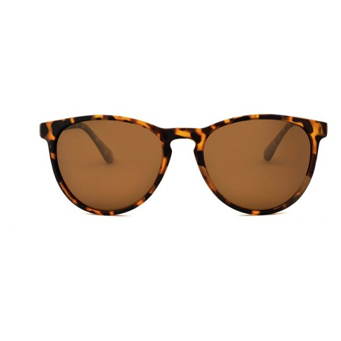 0555c2354f Women s Polarized Tort Round Sunglasses - A New Day™ Brown   Target