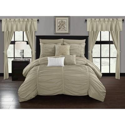 King 20pc Hallstatt Bed In A Bag Comforter Set Beige - Chic Home Design