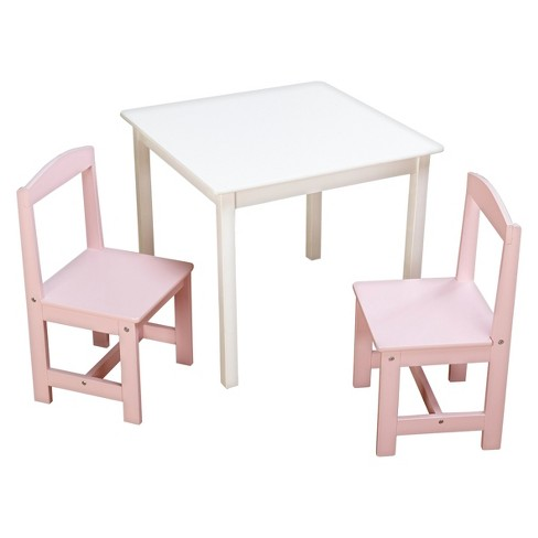 Incredible Madeline Kids Table And Chairs Set Antique White Pink Tms Home Interior And Landscaping Ologienasavecom