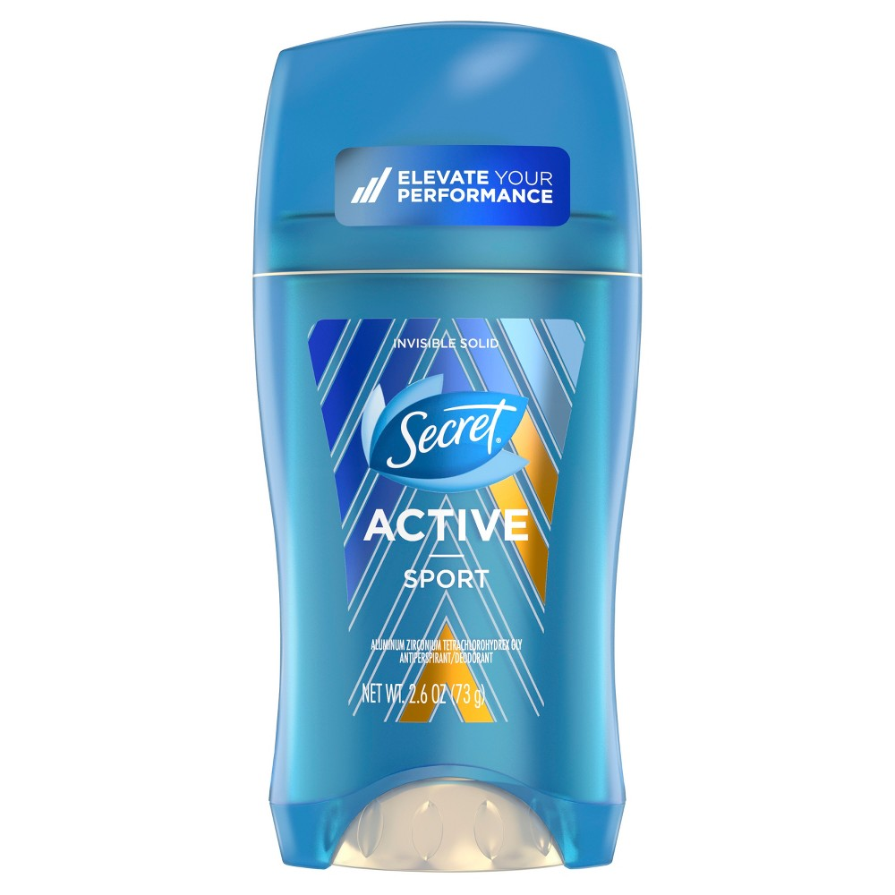 Secret Active Sport Invisible Solid Antiperspirant and Deodorant - 2.6oz, Blue
