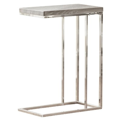 Lucia Chairside End Table Gray/Brown - Steve Silver